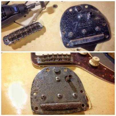 Cordal Fender Jazzmaster - Antes y depués