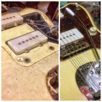 Pastillas Fender Jazzmaster - Antes y después