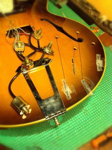 Potes y Jack señalizados de la Gibson 175