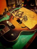 Pastillas y potes extraídos en Gibson 175