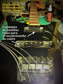 Cavidades de pastilla y puente Rickenbacker